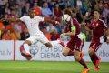Futbola izlase ielaiž divus vārtus otrajā puslaikā un zaudē Nīderlandei