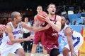 Latvija pēc sekmīga pirmā puslaika nespēj apturēt Eiropas čempioni Franciju