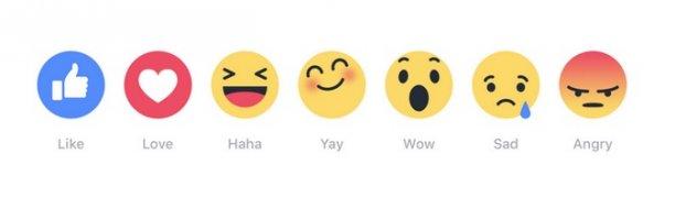 Beidzot 'Facebook' sadala 'Patīk' septiņās dažādās emociju ikonās