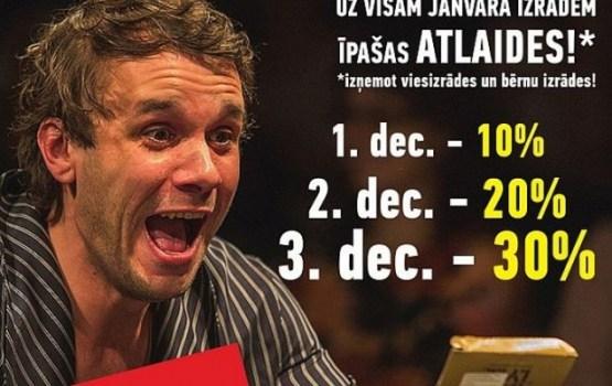 Decembrī Daugavpils teātrī jaunas akcijas!