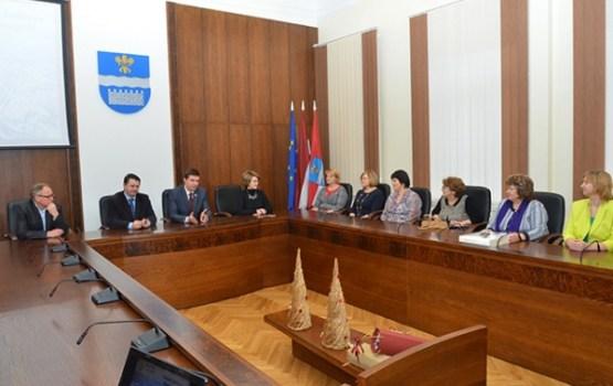 Daugavpils Domē viesojās Viļakas pašvaldības delegācija