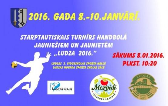 """Norisināsies Starptautiskais turnīrs handbolā """"Ludza 2016"""""""