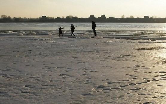 Ledus biezums upēs vietām pārsniedz 20 centimetru