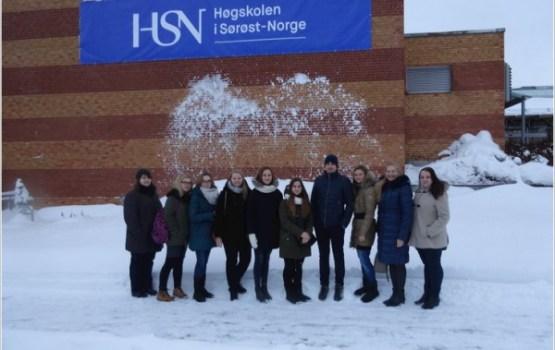 DU studējošie uzsākuši studijas Norvēģijas Dienvidaustrumu universitātes koledžā