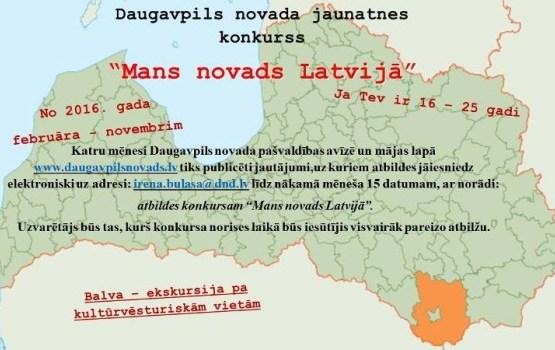 """Konkurss jauniešiem """"Mans novads Latvijā"""""""