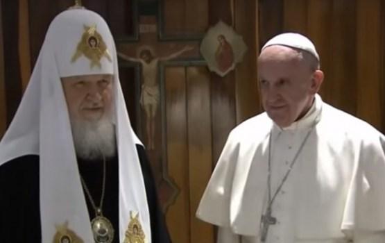 Pāvests Francisks un patriarhs Kirils aicina atjaunot kristiešu vienotību
