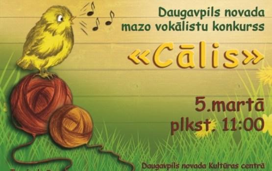 """Daugavpils novada mazo vokālistu konkurss """"Cālis – 2016"""""""