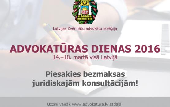 Aicina pieteikties Advokatūras dienu bezmaksas konsultācijai