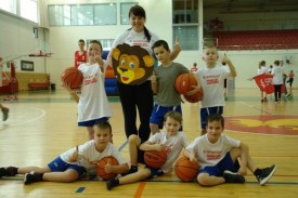 Daugavpils 12.vidusskolas pirmsklasnieku pirmie soļi basketbolā