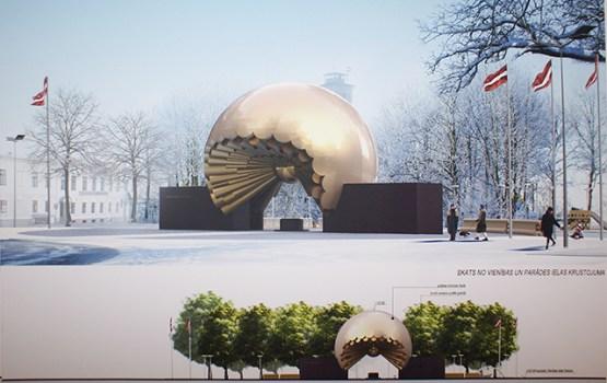 """Daugavpils Domē notiks pieminekļa """"Saule"""" meta prezentācija"""