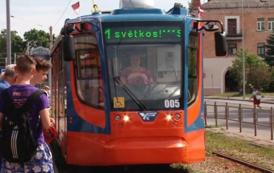 Pilsētas svētku laikā sabiedriskais transports būs bez maksas