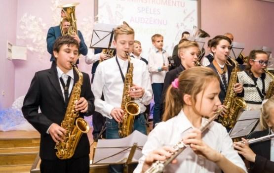 Ludzas Mūzikas skolai jauni mūzikas instrumenti
