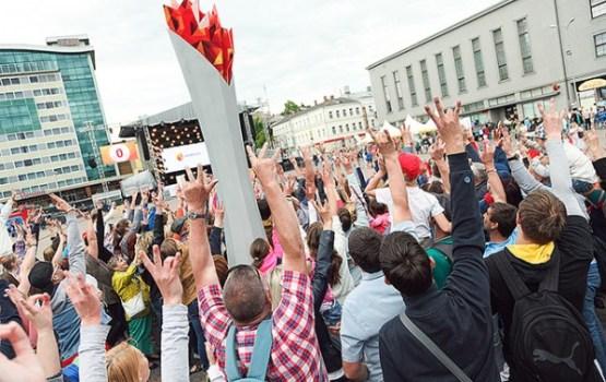 Olimpiešu atbalstam Daugavpilī uzlādē jau otro Elektrum enerģijas lāpu
