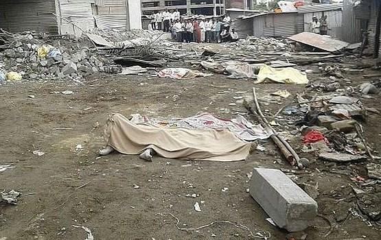Indijā sagrūstot ēkas daļai, gājuši bojā astoņi cilvēki