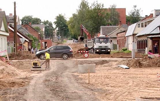 Turpinās ielu un ietvju remontdarbi