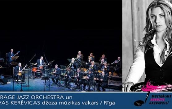 MIRAGE JAZZ ORCHESTRA un IEVAS KERĒVICAS džeza mūzikas vakars