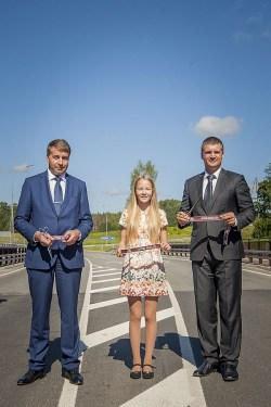 Atklāts rekonstruētais Vecpiebalgas ceļa posms un jaunais tilts pār Gauju