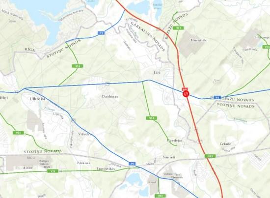 Uz laiku tiks izslēgti luksofori autoceļa Rīga – Ērgļi un Rīgas apvedceļa krustojumā