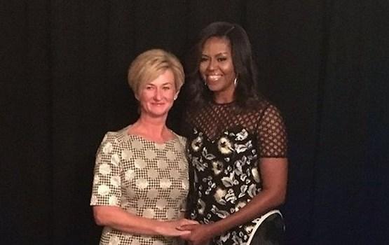 Iveta Vējone tikusies ar Mišelu Obamu