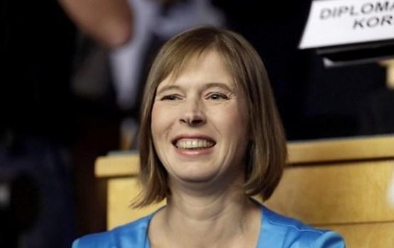 Igaunijas prezidenta amatā ievēlēta Kersti Kaljulaida