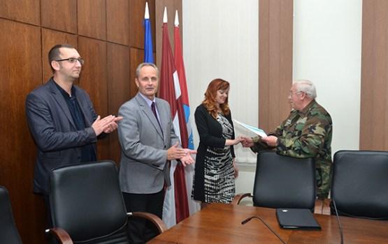 Daugavpils Domei pasniegta Vācijas tautas apvienības pateicība