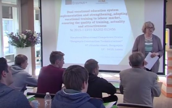 Daugavpils Būvniecības tehnikums uzņēma viesus no Austrijas un Lietuvas