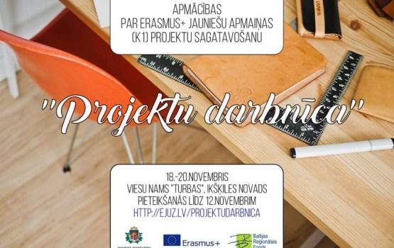 Apmācības par Erasmus+ jauniešu apmaiņas projektu sagatavošanu