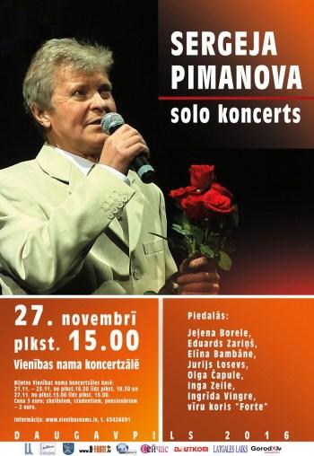 Sergeja Pimanova solo koncerts