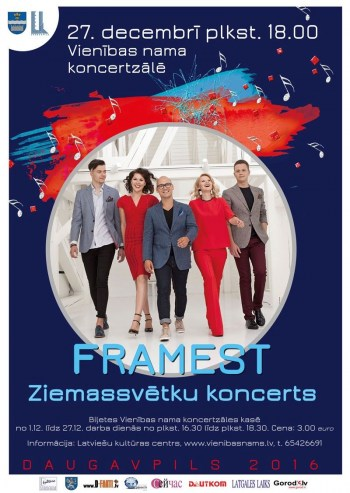 Vokālās grupas FRAMEST Ziemassvētku koncerts