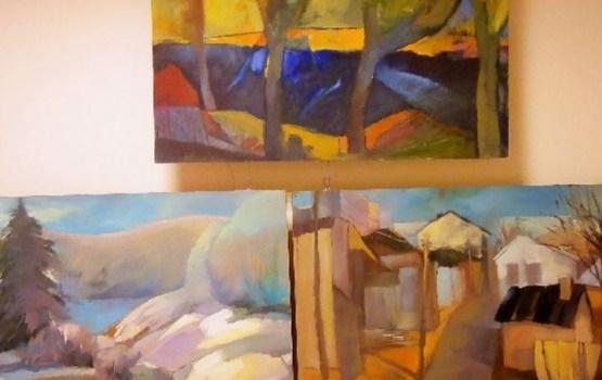 Daces Abrickas gleznu izstāde Gaismas bibliotēkā