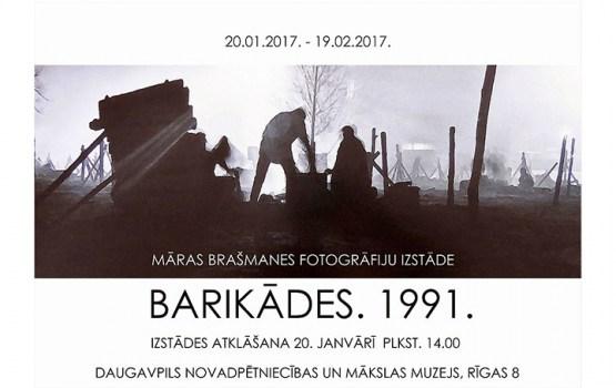 """Māras Brašmanes fotogrāfiju izstāde """"Barikādes.1991."""""""