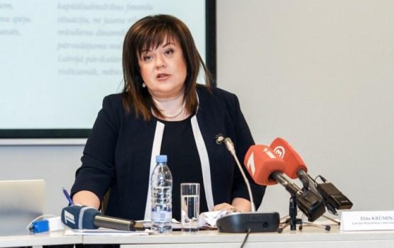 Saeima valsts kontroliera amatā atkārtoti ievēl Elitu Krūmiņu