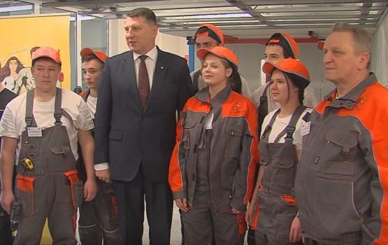 Latvijas prezidents apmeklēja Daugavpils būvniecības tehnikumu