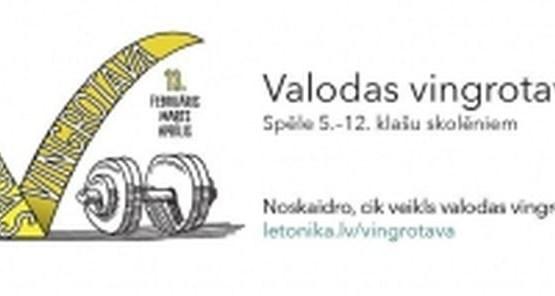 """13. februārī startē letonikas spēle """"Valodas vingrotava"""""""