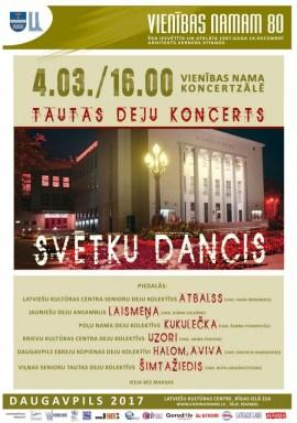 Tautas deju koncerts SVĒTKU DANCIS