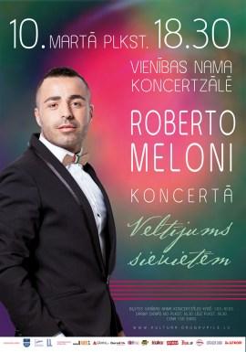 Daugavpilī notiks Roberto Meloni koncerts