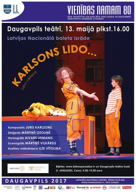 Latvijas Nacionālā baleta izrāde KARLSONS LIDO...