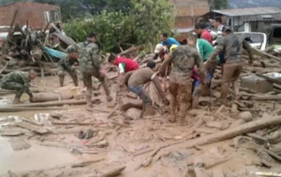Zemes nogruvumos Kolumbijā 206 bojāgājušie