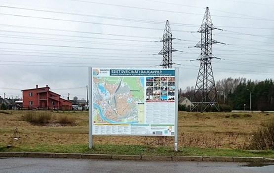 Daugavpilī atjaunoti tūrisma informācijas stendi
