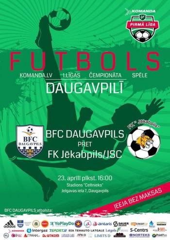 BFC Daugavpils svētdien aizvadīs pirmo 1. līgas mājas spēli!
