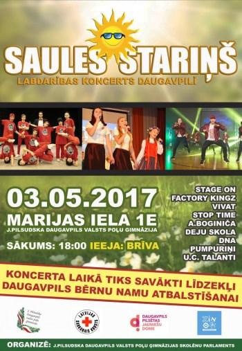 """Labdarības koncerts  """"SAULES STARIŅŠ"""""""