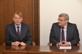 Daugavpils Domē uzņēma Polijas delegāciju