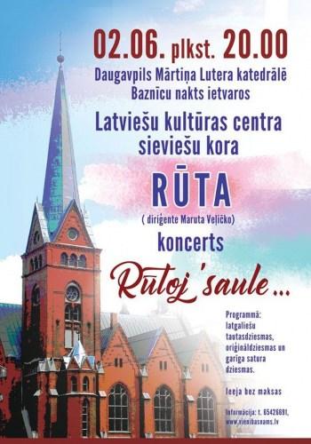 """Latviešu kultūras centra sieviešu kora """"Rūta"""" koncerts"""
