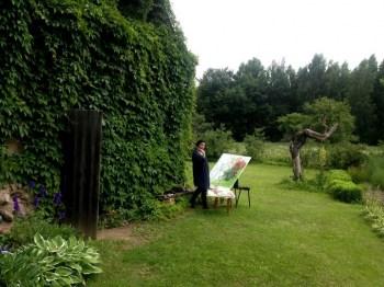 Starptautiska tikšanās mākslinieka Valda Buša zīmē Viļakā