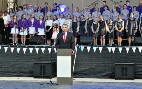 Svinam Ludzas 840 kopā ar Valsts prezidentu