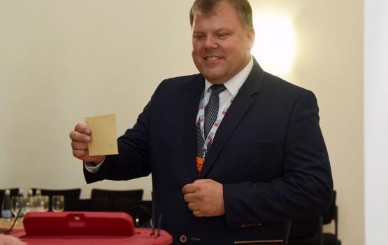 Par Latvijas Pašvaldību savienības priekšsēdētāju ievēlē Auces mēru Kaminski