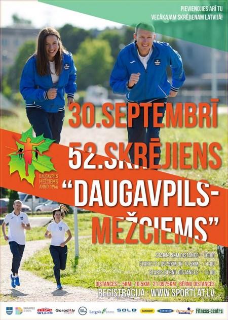 """Skrējienā """"Daugavpils – Mežciems"""" jauna distance - Pusmaratons!"""