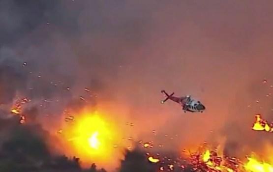 Losandželosā plosās pilsētas vēsturē lielākais savvaļas ugunsgrēks