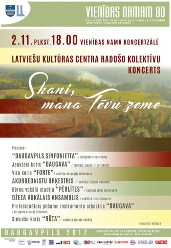 """Latviešu kultūras centrā radošo kolektīvu koncerts """"Skani, mana Tēvu zeme"""""""