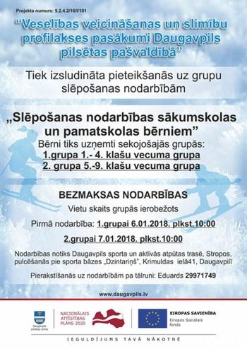 Bezmaksas veselības veicināšanas nodarbības Daugavpilī